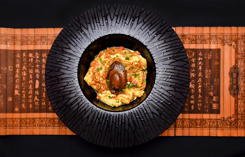 蟹黄鲍片豆腐